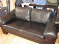 Canapea neagra  piele naturala
