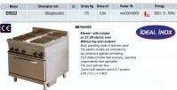 Masina de gatit cu 4 plite si cuptor LINIA 900  CLR.57.ER922