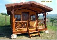 Producem case si cabane de lemn masiv realizate in stil rustic