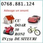 Publicare anunt in domeniul imobiliar auto afaceri servicii diverse