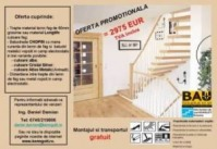 Scara interioara lemn autoportanta standard